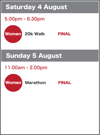 Road schedule 4-5 August