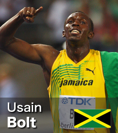 Usain Bolt - World Record holder in both 100m and 200m