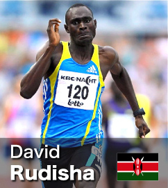 David Rudisha - 800m World Record holder