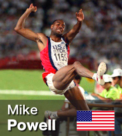 Mike Powell - World Record holder in the Long Jump