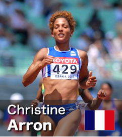 Christine Arron - European Record holder at 100m and World No 4 all-time