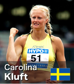 Carolina Kluft - 2nd in all-time Heptathlon scores