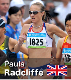Paula Radcliffe - both Marathon and 10k World Record Holder