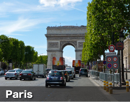 Visit iconic cities such as Paris