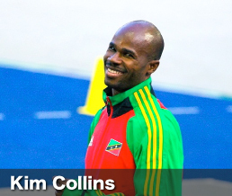 Sprint legend Kim Collins