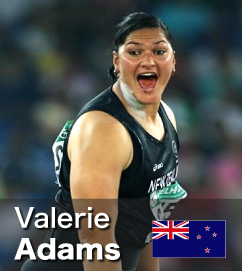 Valerie Adams top of 2011 Shot Put rankings