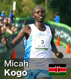Fastest 10k road run of 2011 went to Micah Kogo