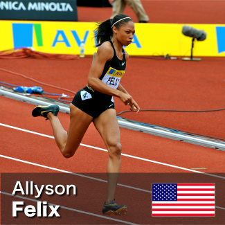 Allyson Felix - 200m and 400m