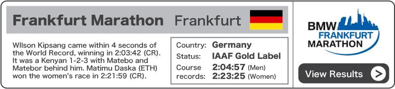 2011 BMW Frankfurt Marathon - Results
