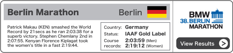 2011 BMW Berlin Marathon - Results