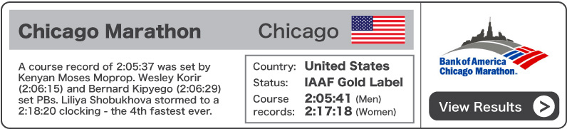 2011 Bank of America Chicago Marathon - Results