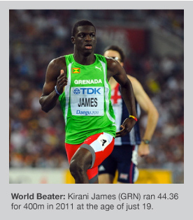 Kirani James enjoyed a wonderful 2011 season