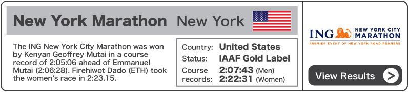2011 ING New York City Marathon - Results
