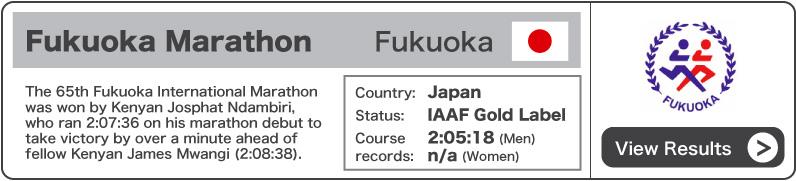 2011 Fukuoka Marathon - Results