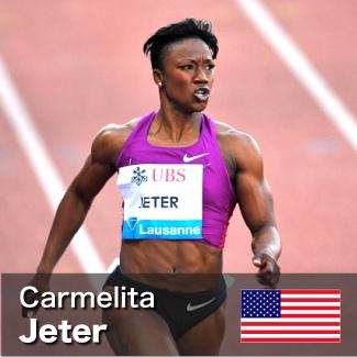 Carmelita Jeter - 100m and 200m