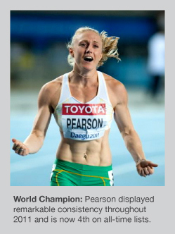 Sally Pearson had a fantastic 2011 season