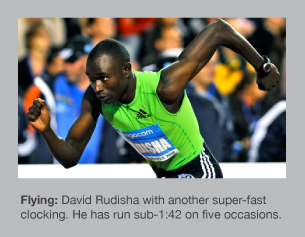 David Rudisha in unstoppable mood