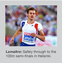 Christophe Lemaitre is the reigning 100m champion