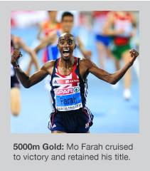 Mo Farah defended his 5k Euro crown