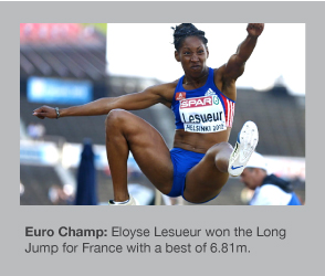 Eloyse Lesueur is the European Long Jump Champion