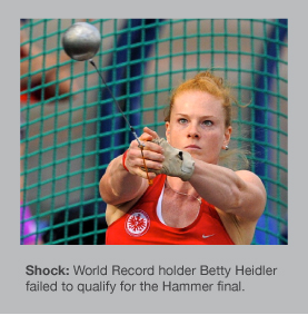 Betty Heidler will not be in the Hammer final
