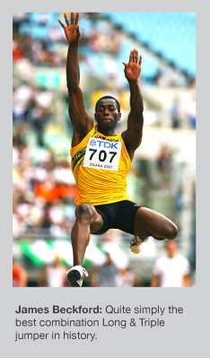 James Beckford was a superb jumper in both disciplines