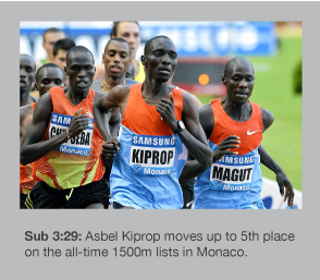 Asbel Kiprop runs the fastest 1500m since 2004