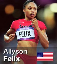 Allyson Felix ran a stunning 21.69 in 2012