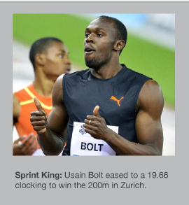 Usain Bolt has reigned supreme in 2012