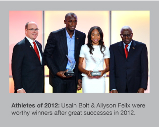 Usain Bolt and Allyson Felix were dominant in 2012