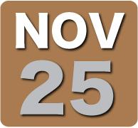 Sunday 25 November 2012