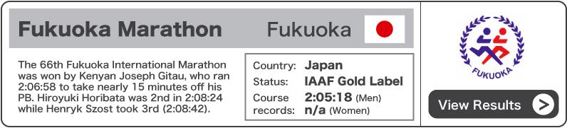 2012 Fukuoka Marathon - Results