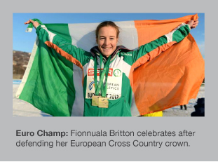 Fionnuala Britton is all smiles after her success in Budapest