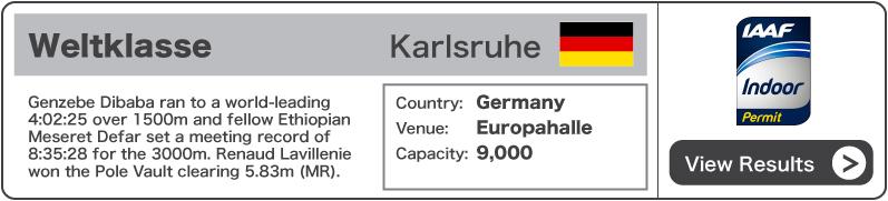 2013 Weltklasse Meeting Karlsruhe - Results
