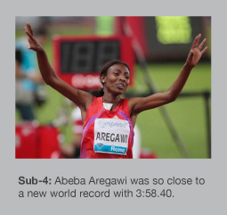 Abeba Aregawi was within 0.12secs of the 1500m world record