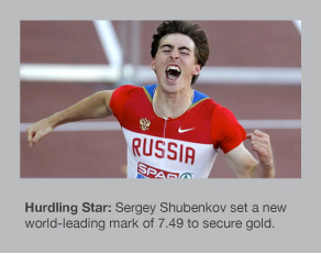 Sergey Shubenkov strikes gold in Gothenburg