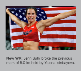 Jenn Suhr won gold at the London 2012 Olympics
