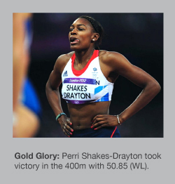 Perri Shakes-Drayton set a world-leading time of 50.85