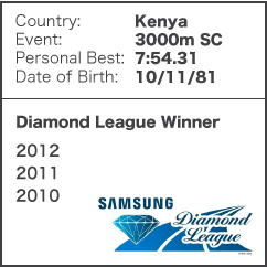 Diamond League Legend - Paul Kipsiele Koech