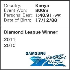 Diamond League Legend - David Rudisha
