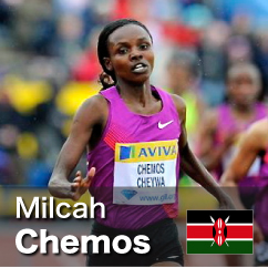 Diamond League winner 2010-2012 - Milcah Chemos