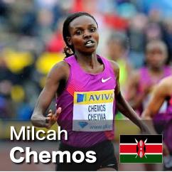 Diamond League winner 2010-2012 - Milcah Chemos