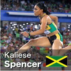 Diamond League winner 2010-2012 - Kaliese Spencer