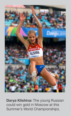 Darya Klishina cleared the 7m barrier in Gothenburg