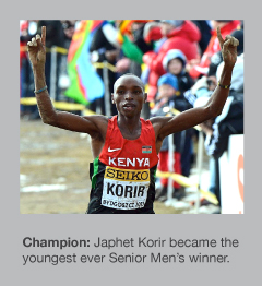 Japhet Korir is the new World Cross Country Champion