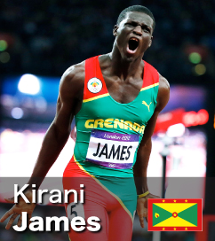 Kirani James was the 2012 Olympic 400m Champion