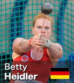 Betty Heidler broke the Hammer WR in 2011