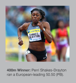 Perri Shakes-Drayton looked supreme over 400m