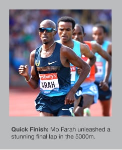 Mo Farah was in superb form in Birmingham