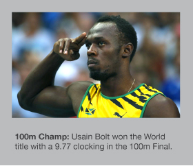 Usain Bolt is the new 100m World Champion